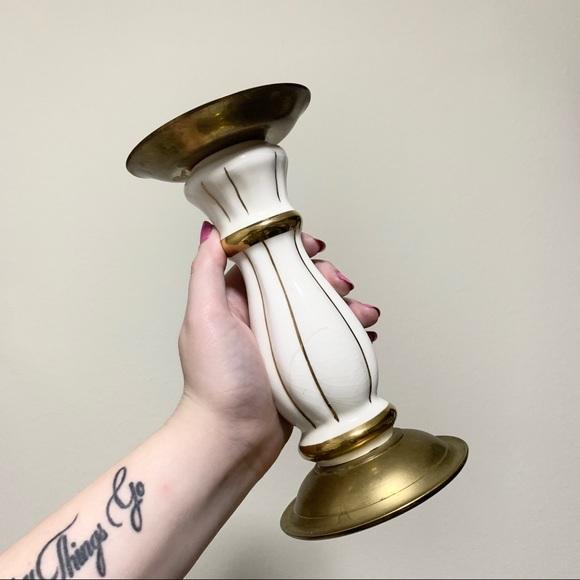 Vintage pedestal candle holder
